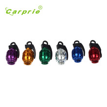Tiptop NEW 2PCS Grenade Alloy Valve Caps Dust Covers Bike Bicycle MTB BMX Car Free Shipping mar29
