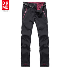 Winter ski pants men waterproof soft shell fleece pant thicken outdoor thermal fleece snowboard trousers men skiing snow pants(China)