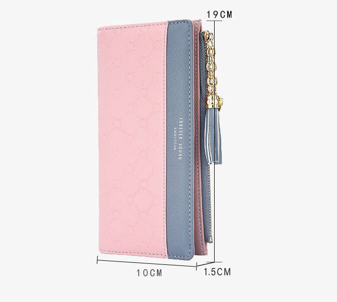 2018 Fashion Ladies Wallet Female Short Zipper Coin Purse Small Wallets Young Womens Tassel Hasp Purses Button Card Holder Pouch 98