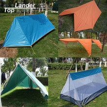 Folding Mosquito Net Tent Camping Outdoor Double Layer Ultralight Tarp Single Tents Tarp Sun Shelter Multi function Tents(China)