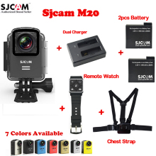 Original SJCAM M20 Wifi 30M Waterproof Sports Action Camera Sj Cam DV+2 Battery+Dual Charger +Remote Control Watch+Chest Strap