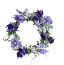 Lavender Wreaths Artificial Flowers Wall Decoration Church Wedding Flower Wreaths Decor(China)