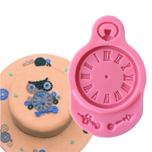 Silicone Mold Fondant Cake Mould Clock Pocket Watch Cupcake Decorating Tools Steam Punk Baking Kitchen Accessories A1071-1