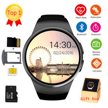 LEMFO KW18 Bluetooth smart watch полный экран Поддержка sim-карта TF Smartwatch телефон Heart Rate для apple gear s2 huawei xiaomi(China)