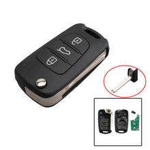 FGHGF For Hyundai IX30 I20 I30 3 Button Complete Full Remote Key Fob 433MHz & CHIP ID46 TOY40 blade With logo