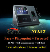 Face Facial TCP IP Attendance Fingerprint Access Control Biometric Time Clock Recorder Employee Digital Recognition Reader 5YAF7