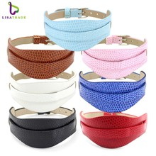 "18+8MM PU Leather Wristband Bracelets "" Can Choose the Color"" (10 pieces/lot) Fit Slide Letter /Slide Charms LSBR011*10(China)"