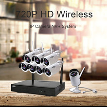 Hiseeu Endoscope Security System Video Surveillance Night Vision IP Camera HD 720P 8CH Wireless CCTV System Kit Wifi CCTV Camera(China)