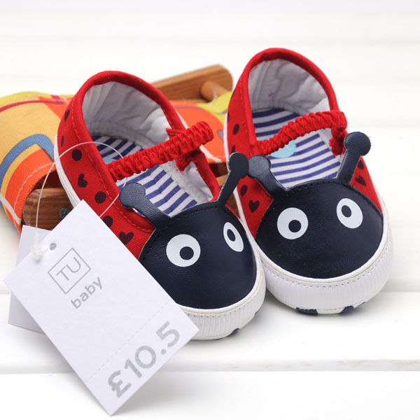2015 Spring and autumn infant shoes cute ladybird baby shoes for little girls lovely Ladybug shape soft sole toddler baby shoes<br><br>Aliexpress