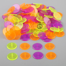 NEW 100pcs Pack Flat Round Plastic Golf Ball Position Marker Multicolor Markers Mark Free Shipping!