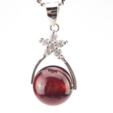 Natural Garnet pendant for lady Real Pure 925 sterling silver jewelry Wholesale beautiful beads pendants for women free shipping