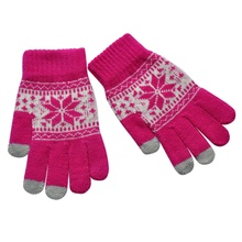 Full Finger Gloves Magic Touch Screen Smartphone Winter Warmer Knit Mittens Wrist Gloves
