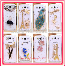 new 2015 luxury rhinestone mobile phone case cover For samsung Galaxy s3 i9300 case(China)
