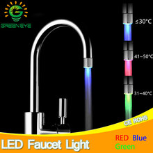LED Faucet Light Temperature Sensor RGB Glow Shower Water Shower Head Stream Sink Tap Torneira Bathroom Kitchen Accessories(China)