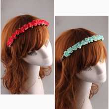 Festival Women Bride Boho Style Floral Rose Flower Hairband Headband for Festival Party Wedding Prom Hair Accessories Photos Hot
