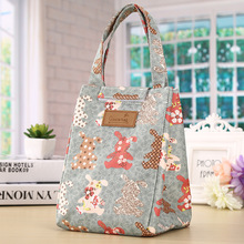 Lunch Bags for Women Men Printing Flower Dog Heart Thermal Big Capacity Storage Tote Bags Food Picnic insulation Bag Cooler(China)