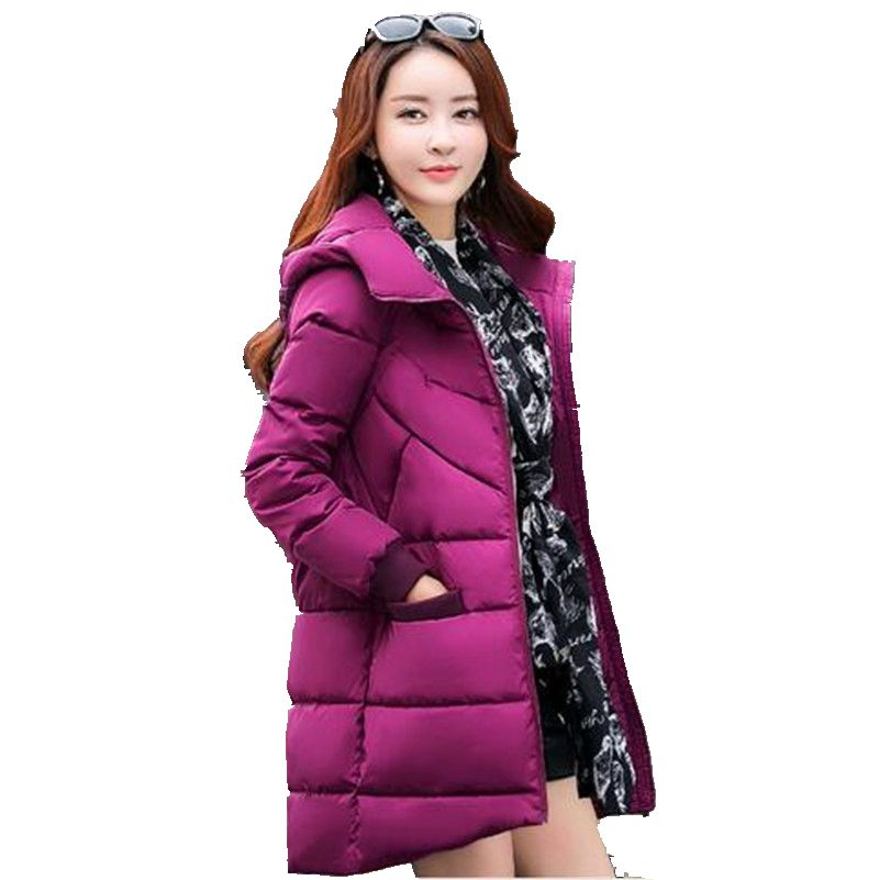 2016Winter Middle-aged Women Slim Show Thin Eiderdown cotton Coat Medium long Warm Cotton-Padded Clothes Female Winter CoatG1837Одежда и ак�е��уары<br><br><br>Aliexpress