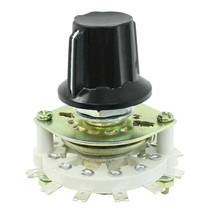 High Quality Plastic Knob 1P6T 1 Pole 6 Throw Band Channel Rotary Switch Selector