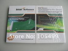 Free Shipping ARTCUT Software 2009 Vinyl Cutter Plotter Cutting Plotter Vinyl Sign Making Design software(China)