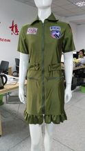 real picture!!! ladies Fashion Sexy Adult green Army Uniform Costume Halloween costume for women fancy dress Set free pp