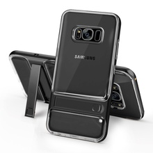 Cover for Galaxy S8 G950 CellPhone Bag ELEGANCE Hybrid TPU + PC Kickstand Mobile Casing for Samsung Galaxy S8 Shell Funda- Black