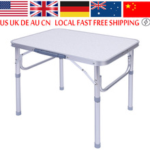 1x Aluminum Alloy Adjustable Folding Portable Picnic Table Desk Stand Tray For Outdoor BBQ Party Camping Picnic Table