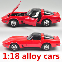 1:18 alloy cars,high simulation model Chevrolet Corvette,metal diecasts,coasting,the children's toy vehicles,free shipping