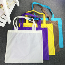 Custom Light weight Durable Polyester Blank Promotional Shopping Tote Bag