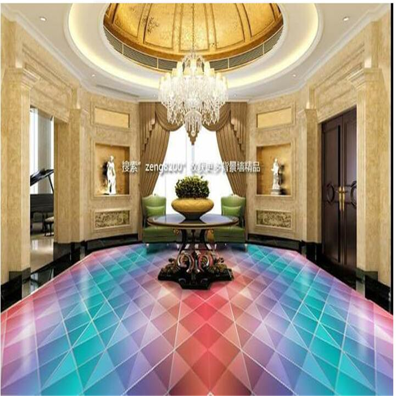 Custom floor stickers Seven-color light swirls 3D painted flooring papel de parede Self-adhesive decorative painting wall paper<br><br>Aliexpress