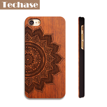 Techase Wooden Anti-knock Phone Cases For iPhone 4 5 6 7 Plus For Samsung S7 Huawei P9 Lite Oneplus 3T OPPO R9 Case Back Covers