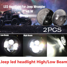 Round H13 H4 High/Low Beam  40W 7'' Harley led headlamp  7 INCH LED Headlight for Jeep Wrangler JK Hummer Motorcycle