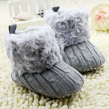 Winter Autumn Warm Prewalker Boots Toddler Girl Boy Crochet Knit Plush Fleece Boot Wool Snow Crib Shoes Boots