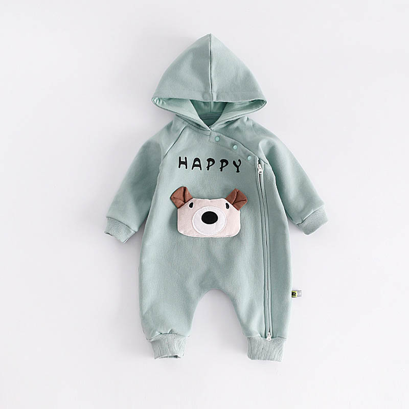 peninsula baby New autumn winter new style thickness Long sleeve Hooded climbing suit Fashion Cartoon Rabbit bear baby romper<br>