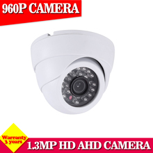 Crazy Sales,HD AHD 1.3MP CCD 2500TVL CCTV Security HD AHD Camera 3.6mm Lens IR-CUT 24 IR Leds Night Vision Indoor Dome Camera