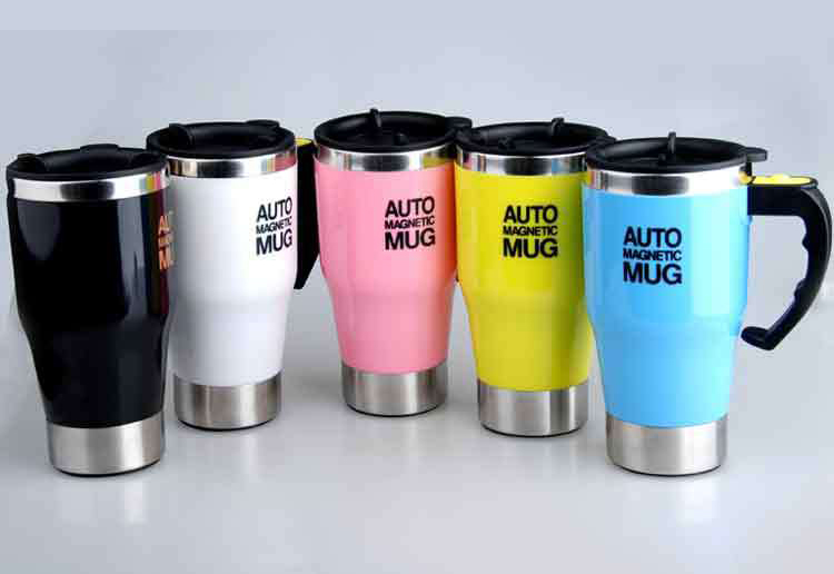 Self Stirring Stainless Steel Travel Mug