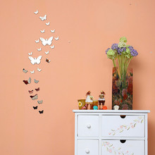 DIY 3D Wall Stickers Mirror Decorative Wall stickers muraux home decor 3D Wall Stickers home decoration vinilos decorativos(China)