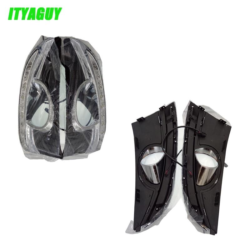 ITYAGUY Car Accessories LED DRL Daytime Running Lights Daylight Fog light LED fog lamp for Chevrolet Captiva 2011 2012 2013<br>