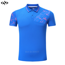High Quality Polo Shirt Adult Tennis Clothing Sports Badminton T Shirt Golf Shirt Men Breathable Tops Training Clothes 2017 New(China)