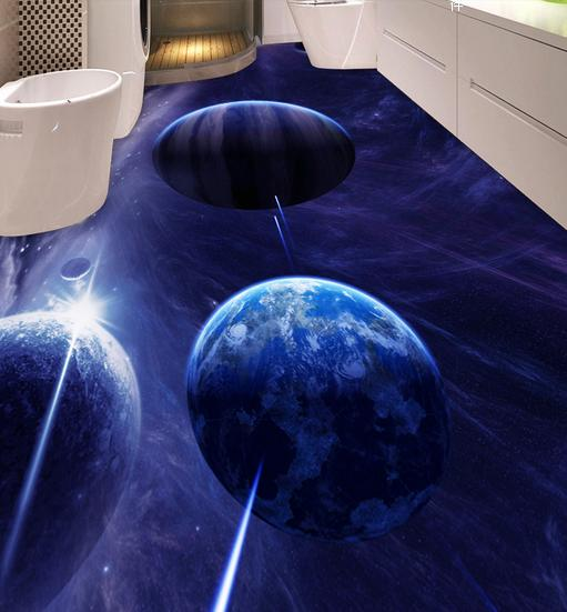 3d wallpaper High quality 3d flooring painting wallpaper Dream Star floor painting living room photo wallpaper<br><br>Aliexpress