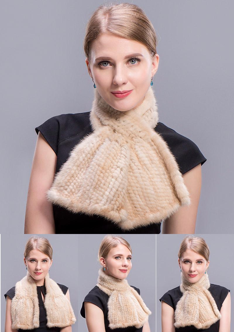 mink scarf beige 5