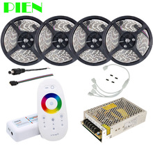 RGBW Warm white led strip 20m 15m 10m Ribbon 12V Waterproof IP68 5050 2835 + RF Remote Controller + Power adapter Kit Free ship