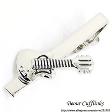 2017 High Quality Mens Cuff Links Tie Clips For Men Abotoaduras Cufflinks Guitar Tie Clip 1750