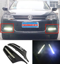 For Vw Jetta MK6 2011-2013 drl daytime led light with projector lens, orifice without fog lamp, fast shipping(China)
