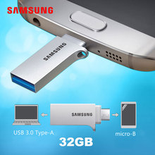 SAMSUNG USB Flash Drive 32gb USB 3.0 pendrive metal lettering or pattern memory stick micro usb memoria disk for Android phone(China)
