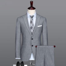 New Men's Polyester Suits Elegant Pant Coat Design Men Wedding Suits Pictures Double Breasted Suit With Factory Wholesale Prices(China)