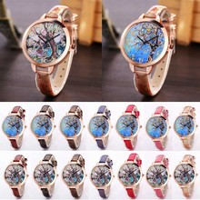 Nre Fashion Casual Cartoon Pattern Thin Watchband Round Face Quartz Watch Women Wrist Watches High Quality  LL@17
