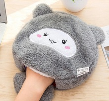 Cute cartoon picture warm in winter USB heated mouse pad with wrist, hand warmers heating pad