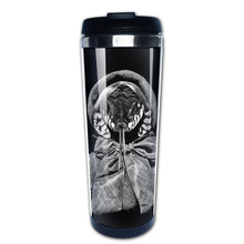 Illustration on scratch board coffee mug japanese car tazas stainless steel tumbler caneca tea Cups(China)