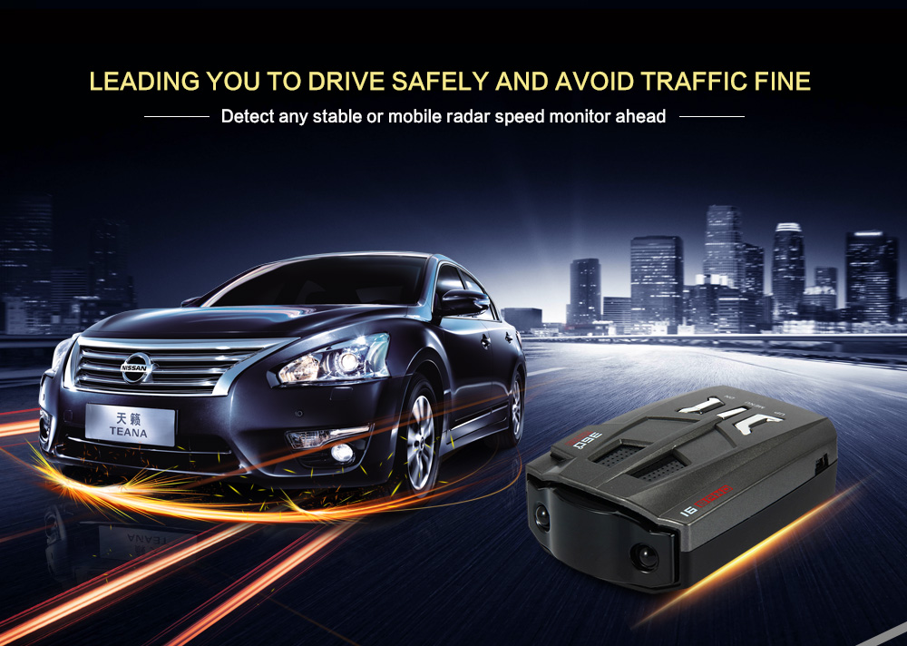 Universal V9 Car Speed Detector Russia /English Voice Alert Warning Car-Detector Full 16 Bands Vehicle Anti Radar Detector<br><br>Aliexpress