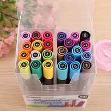 36 colors/set double headed oily color marker brush graffiti pen professional art supplies pen set fine markers manga drawing